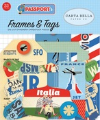 Passport Frames & Tags Ephemera - Carta Bella
