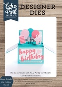 Happy Birthday Pop Up Card Die Set - Echo Park - PRE ORDER