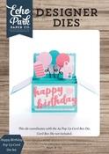 Happy Birthday Pop Up Card Die Set - Echo Park - PRE ORDER