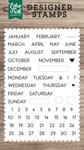 Calendar Essentials Stamp - Echo Park