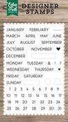 Calendar Essentials Stamp - Echo Park - PRE ORDER