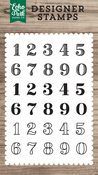 Classic Numbers Stamp - Echo Park - PRE ORDER
