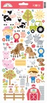 Down On The Farm Icon Stickers - Doodlebug