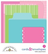 Hello Cards & Envelopes Assortment - Doodlebug
