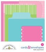 Hello Cards & Envelopes Assortment - Doodlebug