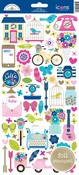 Hello Icon Stickers - Doodlebug