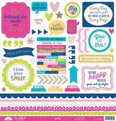 Hello This & That Sticker Sheet - Doodlebug
