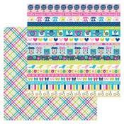 Poppy Plaid Paper - Hello - Doodlebug