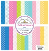 Hello Petite Print Assortment Paper Pack - Doodlebug