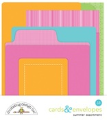 Summer Assortment Cards & Envelopes - Doodlebug