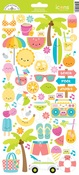 Sweet Summer Icon Stickers - Doodlebug