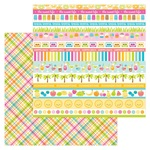 Punch Plaid Paper - Sweet Summer - Doodlebug - PRE ORDER