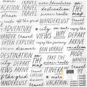 Traveler Vellum Paper - Here & There - Crate Paper