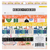 "Here & There 6"" X 6"" Single-Sided Paper Pad - Crate Paper"