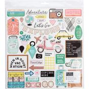 Chipboard Stickers - Here & There - Crate Paper