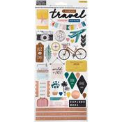 Here & There Cardstock Stickers - Crate Paper