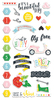 The Bright Side Chipboard Stickers - Fancy Pants