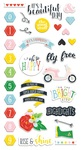 The Bright Side Chipboard Stickers - Fancy Pants