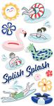 Poolside Chipboard Stickers - Fancy Pants
