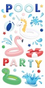 Poolside Puffy Stickers - Fancy Pants