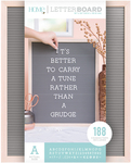 """Natural W/Gray Insert - DCWV Framed Letterboard 16""""X20"""""""