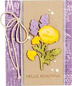 Poppy & Lavender Spray - Spellbinders Shapeabilities Die D-Lites