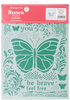 Butterflies - Stamperia Stencil G 8.27 X11.69  This stencil can be used for decorating furniture, fabric, paper, canvas and scrapbooking. Made of a special material which makes them flexible but durable, it is thin enough to feature small details in the design. Perfect for a mixed media projects. This package contains one 8.25x11.75 inch stencil. Comes in a variety of designs. Each sold separately. Imported.