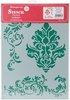 Friezes - Stamperia Stencil G 8.27 X11.69  This stencil can be used for decorating furniture, fabric, paper, canvas and scrapbooking. Made of a special material which makes them flexible but durable, it is thin enough to feature small details in the design. Perfect for a mixed media projects. This package contains one 8.25x11.75 inch stencil. Comes in a variety of designs. Each sold separately. Imported.