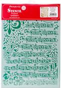 """Stave - Stamperia Stencil G 8.27""""X11.69"""""""