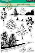"Peaceful Winter - Penny Black Clear Stamps 5""X7"""