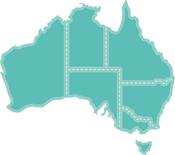"Map Of Australia 3.25""X3"" - Kaisercraft Decorative Die"