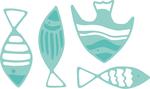 "School Of Fish .5"" To 1.75"" - Kaisercraft Decorative Die"