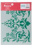 "Flowers & Leaves Decor - Stamperia Stencil G 8.27""X11.69"""