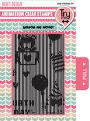 Happy Birthday - Uchi's Animation Clear Stamps & Grid Set