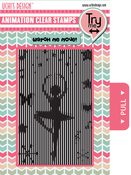 Ballerina - Uchi's Animation Clear Stamps & Grid Set