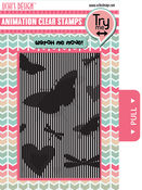 Butterflies - Uchi's Animation Clear Stamps & Grid Set