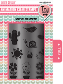Growing Garden - Uchi's Animation Clear Stamps & Grid Set