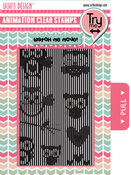 Flying Owls - Uchi's Animation Clear Stamps & Grid Set