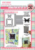 """Butterfly-4.75""""X5.5"""" Card - Uchi's Animation Clear Stamp, Die And Grid Set"""