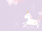 "Unicorn - Kaisercraft D-Ring Album 12""X12"""