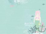 "Mermaid - Kaisercraft D-Ring Album 12""X12"""
