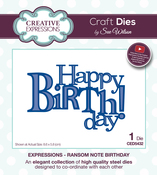 Expressions-Ransom Note Birthday - Creative Expressions Craft Dies By Sue Wilson