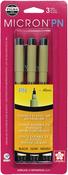 Black - Pigma Micron PN Pens .45mm 3/Pkg
