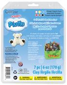 Primary - Sculpey Pluffy Clay 1oz 6/Pkg