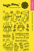 """Rock On - Waffle Flower Crafts Clear Stamps 4""""X6"""""""