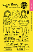 """Little Bakers - Waffle Flower Crafts Clear Stamps 4""""X6"""""""