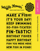 """Make A Fish - Waffle Flower Crafts Clear Stamps 3""""X4"""""""