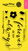 """Forever - Waffle Flower Crafts Clear Stamps 2""""X3"""""""