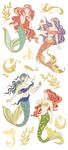 "Mermaids, 13/Pkg - Paper House Sticky Pix Faux Enamel Stickers 8""X3"""