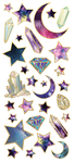 "Star Gazer, 31/Pkg - Paper House Sticky Pix Faux Enamel Stickers 8""X3"""